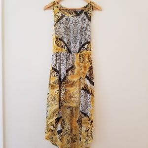 AUDREY 3+1 high/low dress fleur leopard cover-up